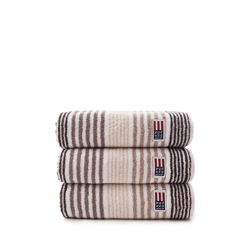 Original Striped Towel gästhandduk – beige