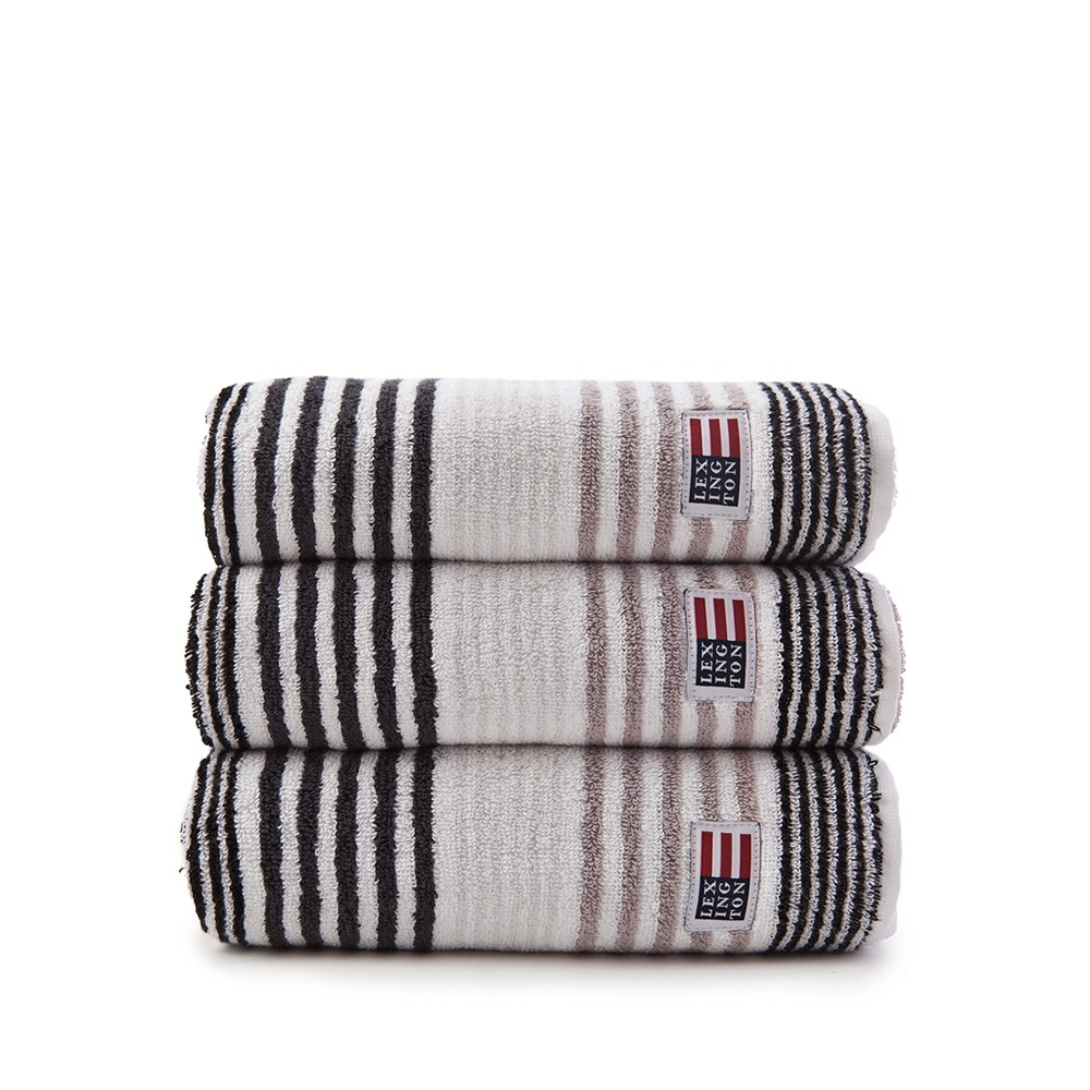 Original Striped Towel duschhandduk – grey