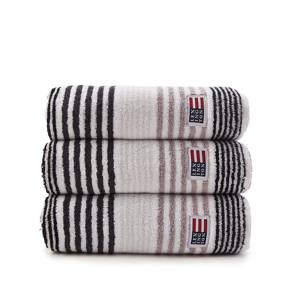 Original Striped Towel badhandduk – grey