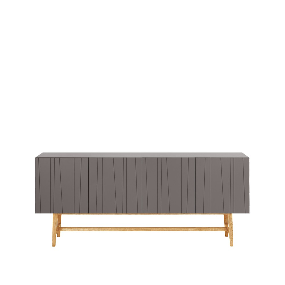 vass sideboard 180 cm storm grey ben i vitlaserad ek 72 cm sk nkar sideboard svenssons. Black Bedroom Furniture Sets. Home Design Ideas