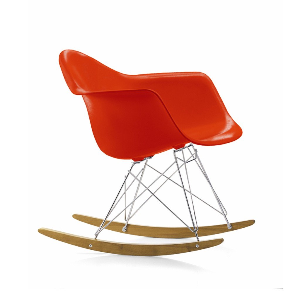 Eames Plastic Armchair RAR gungstol – red