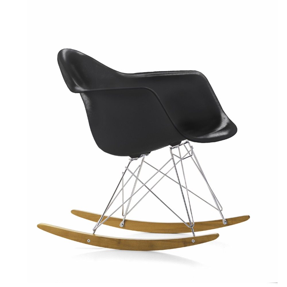 Eames Plastic Armchair RAR gungstol – basic dark
