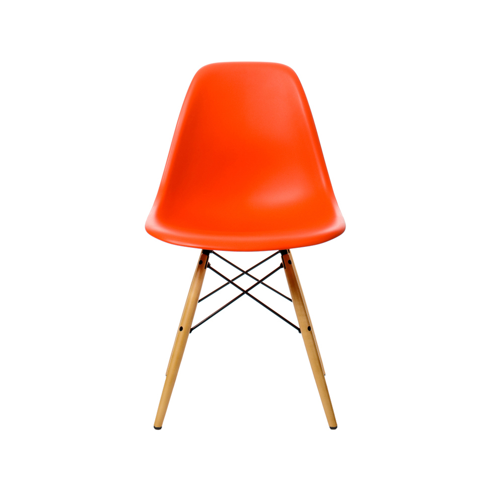 eames plastic side chair dsw stol askben poppy red. Black Bedroom Furniture Sets. Home Design Ideas