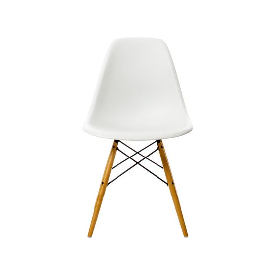 Eames Plastic Side Chair DSW - Eames Plastic Side Chair DSW stol, lönnben - white, 41 cm