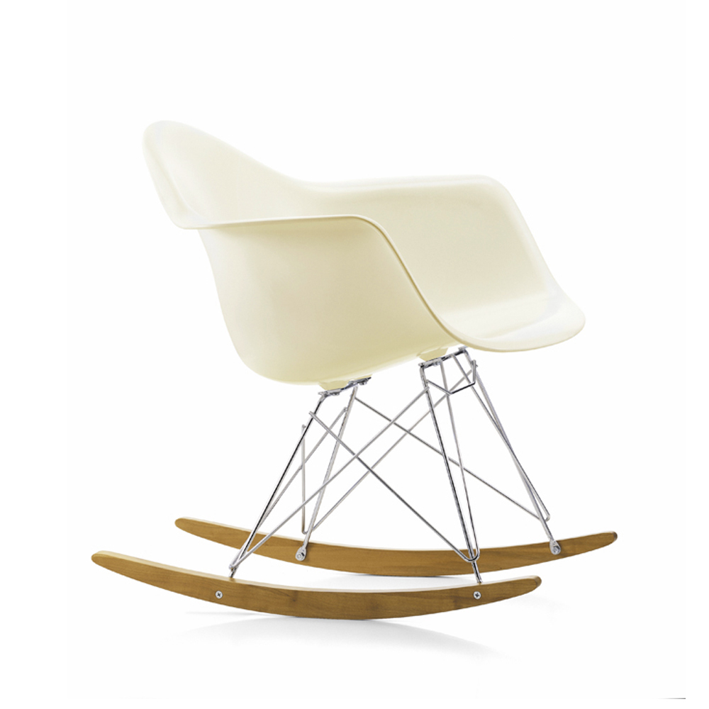 Eames Plastic Armchair RAR gungstol – cream