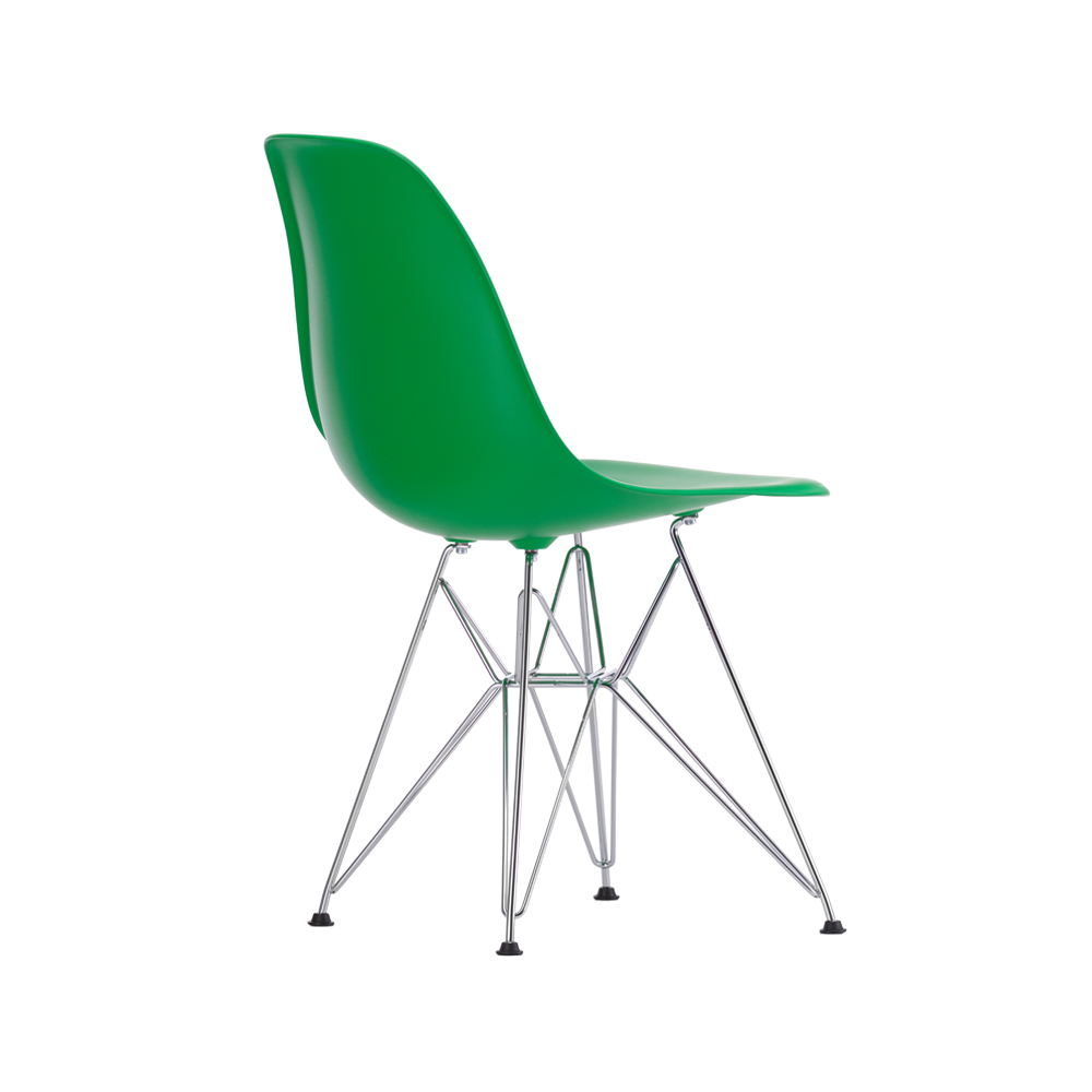 Eames Plastic Side Chair DSR stol – classic green