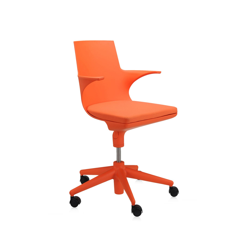 Spoon chair kontorsstol – orange orange dyna