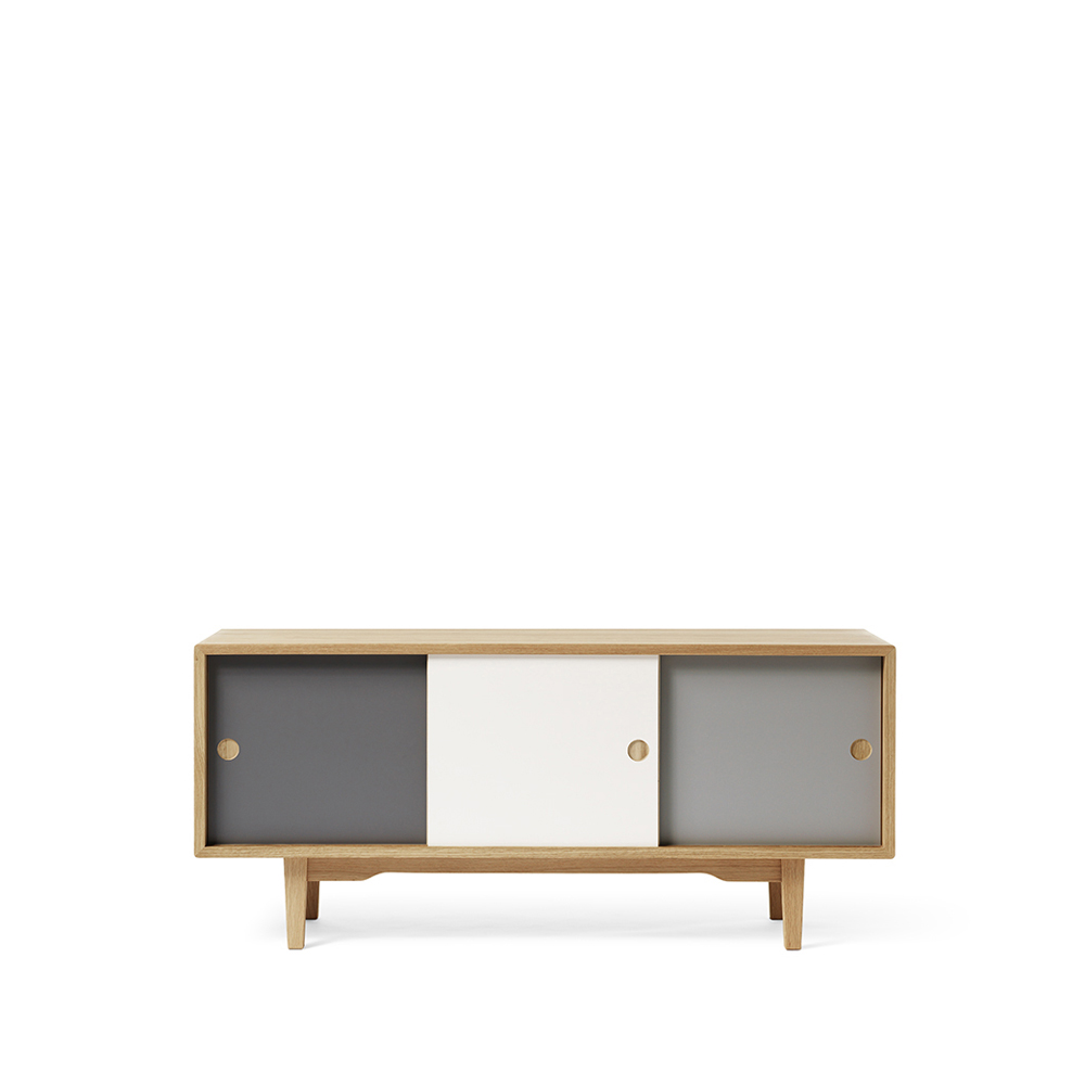 Moodi 130 sideboard – grå/vit ekstomme new