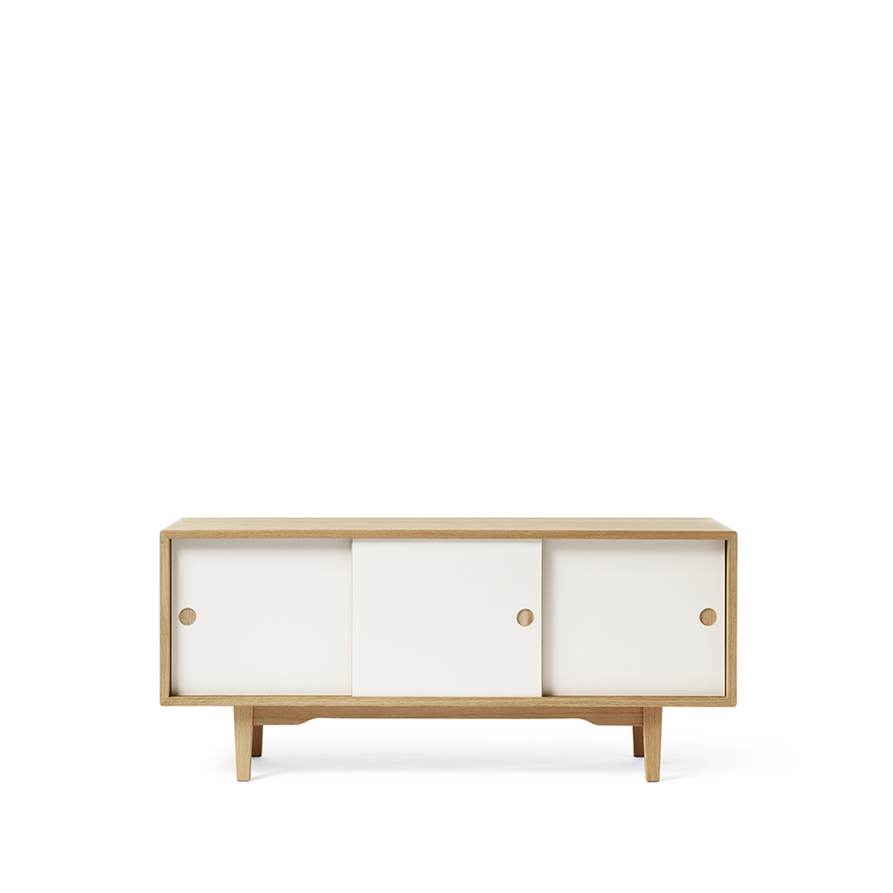 Moodi 130 sideboard – vit/ek ekstomme new