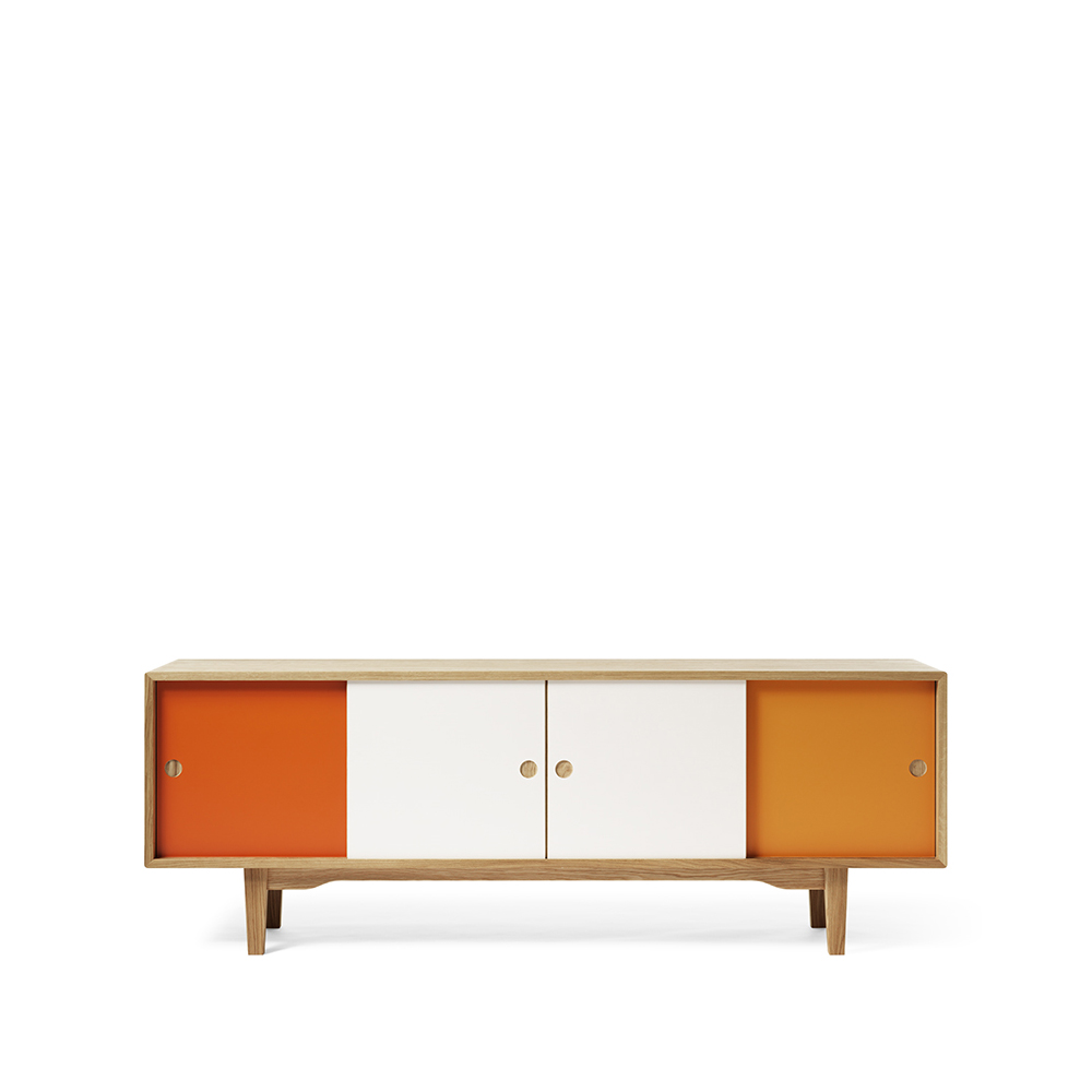 Moodi 180 sideboard – orange/vit ekstomme new