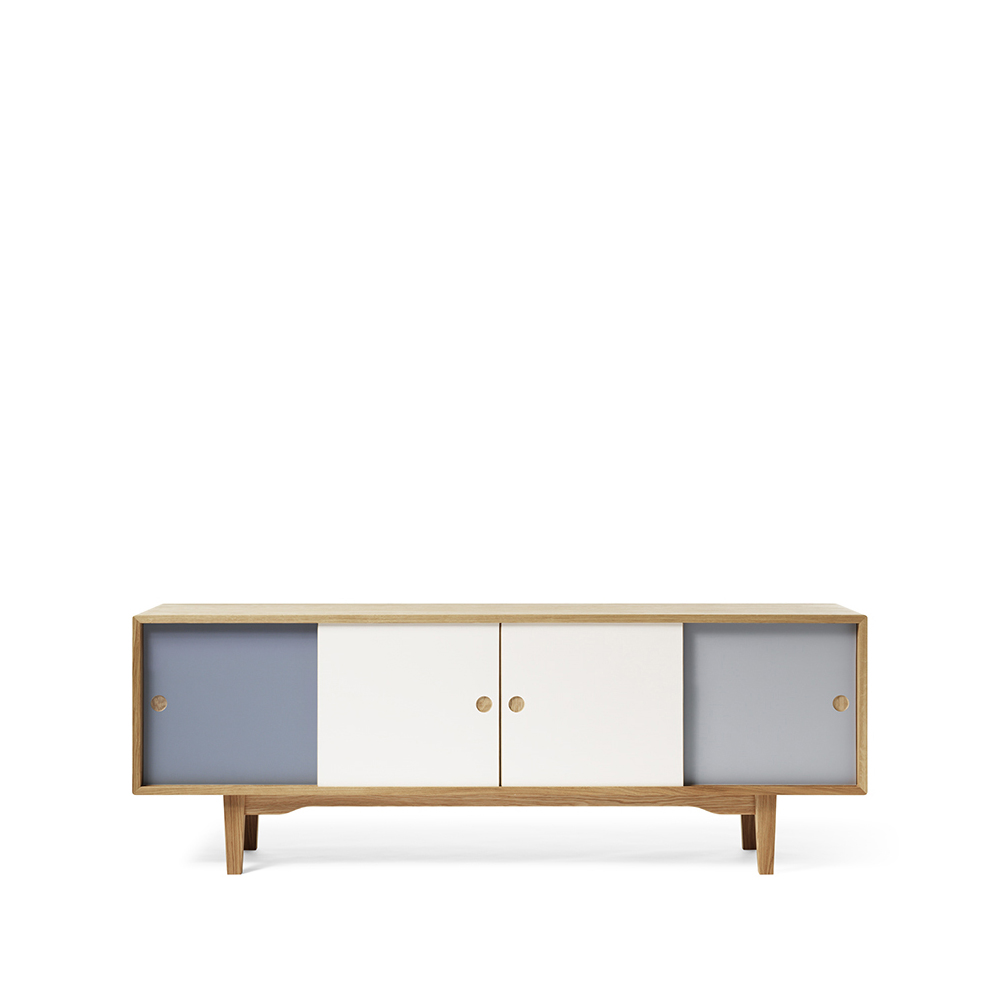 Moodi 180 sideboard – blå/vit ekstomme new