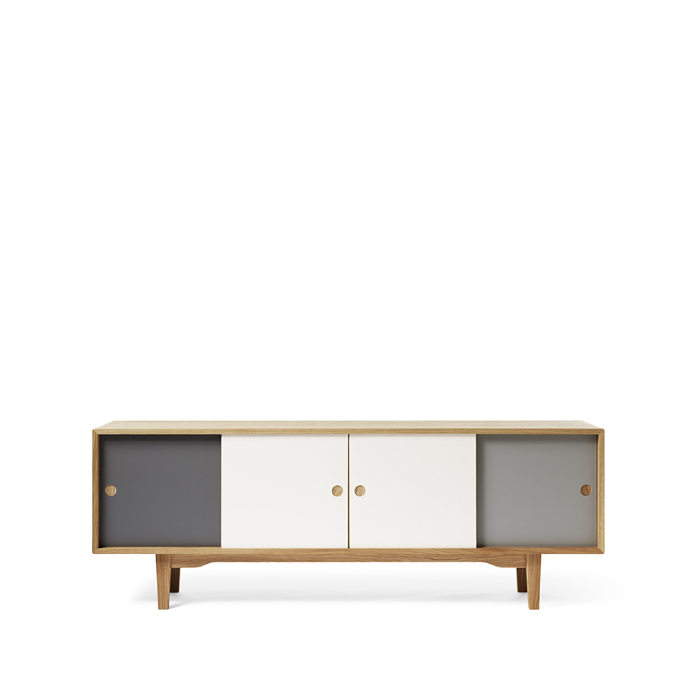 Moodi 180 sideboard – grå/vit ekstomme new