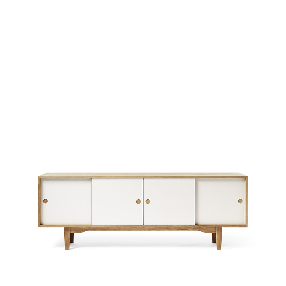 Moodi 180 sideboard – vit/ek ekstomme new