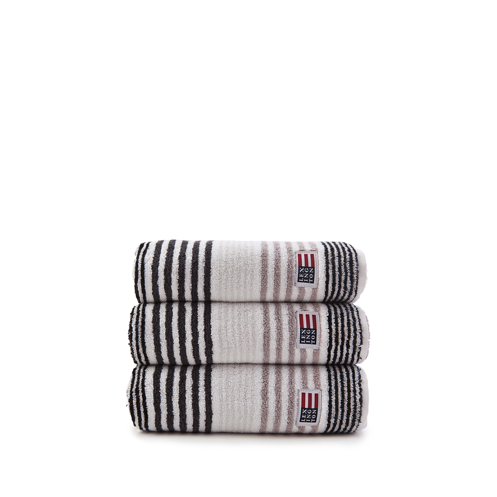 Original Striped Towel gästhandduk – grey