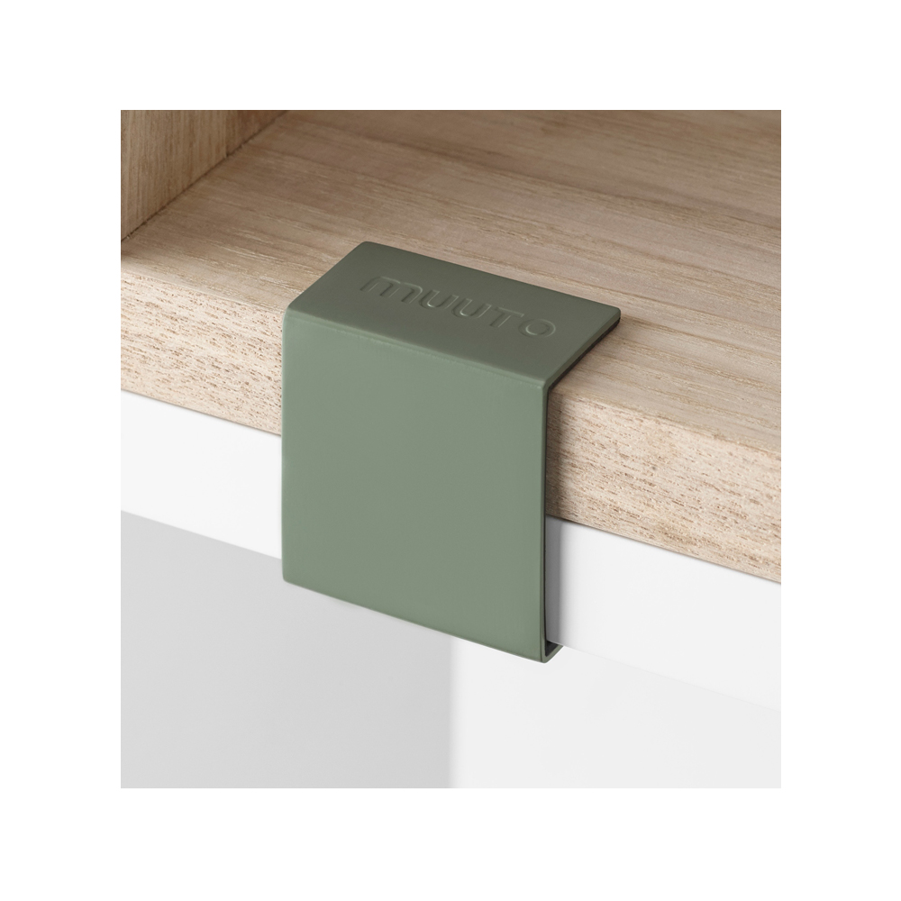 Stacked klämma/clips – dusty green 5-pack