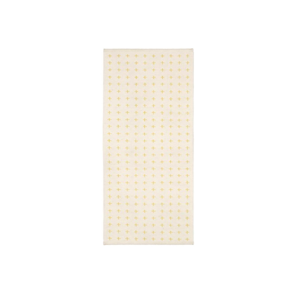 Bild av Stitch matta - 160x240 cm, white/yellow