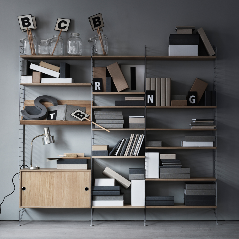 stringhylla sk p valn t skjutd rrar hyllsystem. Black Bedroom Furniture Sets. Home Design Ideas